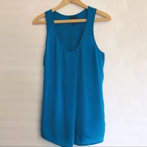 Trouve Blue Sleeveless Tank Blouse Size Large